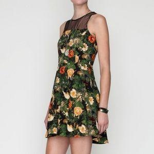 Jack by B.B. Dakota Floral Dress with Mesh XS